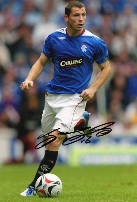 Phil Bardsley, Rangers & Scotland, signed 12x8 inch photo.